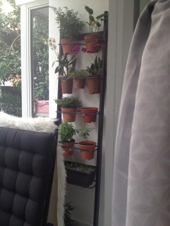 Ikea Towel Hanger Transformed Into A Vertical Garden