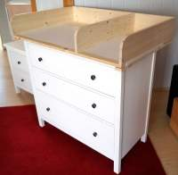 HEMNES baby changing table