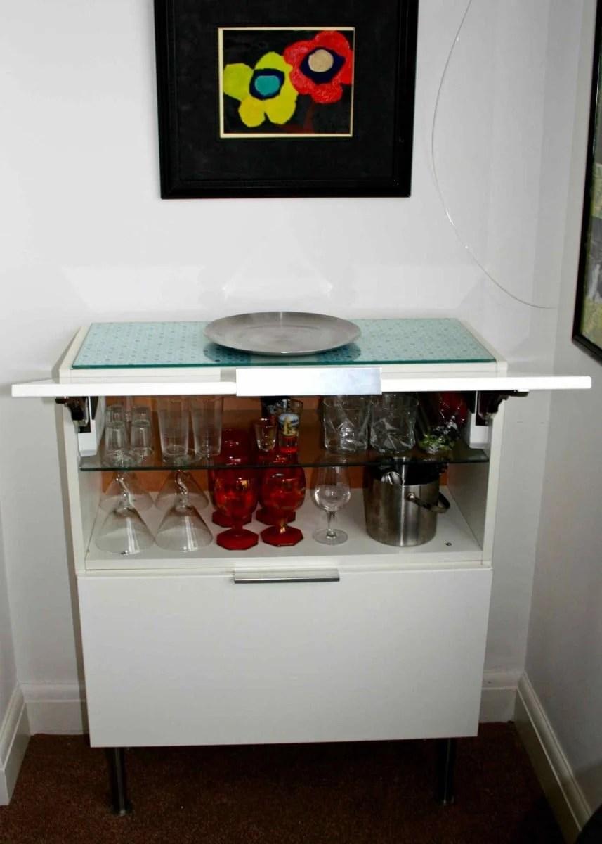 Kitchen Wall Cabinet To Modern Mini Bar Ikea Hackers