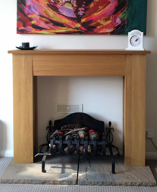Mantlepiece With DVD Storage