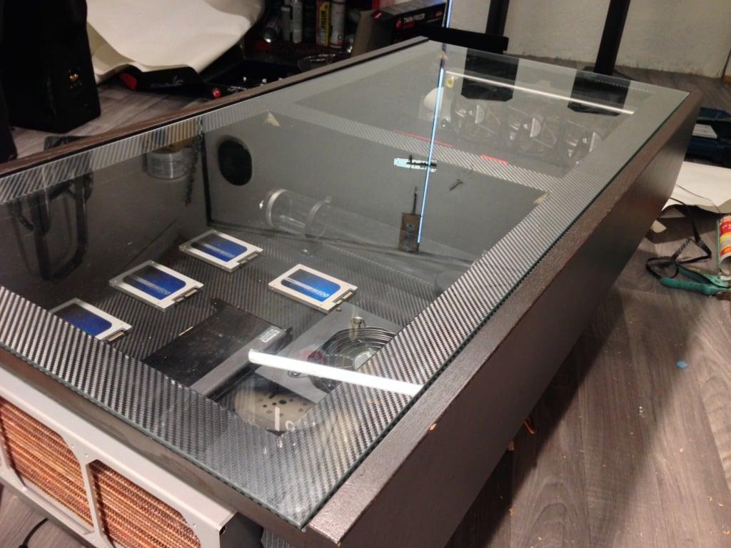 Ramvik Coffee Table Into Watercooled Computer Ikea Hackers
