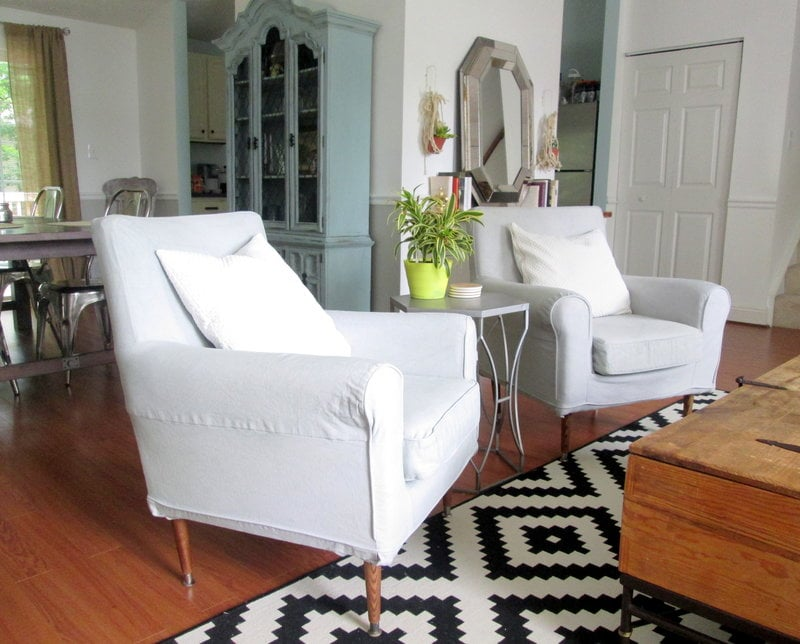 ikea arm chairs ivory satin chair covers slouchy to mid century mod armchair hackers jennylund hack6