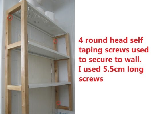 4 securing screws