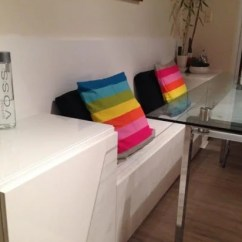 Nice Kitchen Tables White Wood Table Besta Banquette - Ikea Hackers