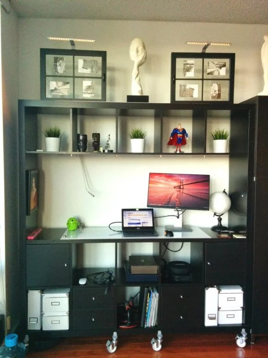 Movable Expedit Standing Desk with Storage  IKEA Hackers