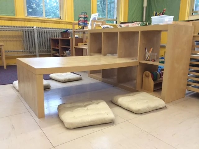 children's desk chair jules patio table and chairs sets expedit preschool + shelving - ikea hackers