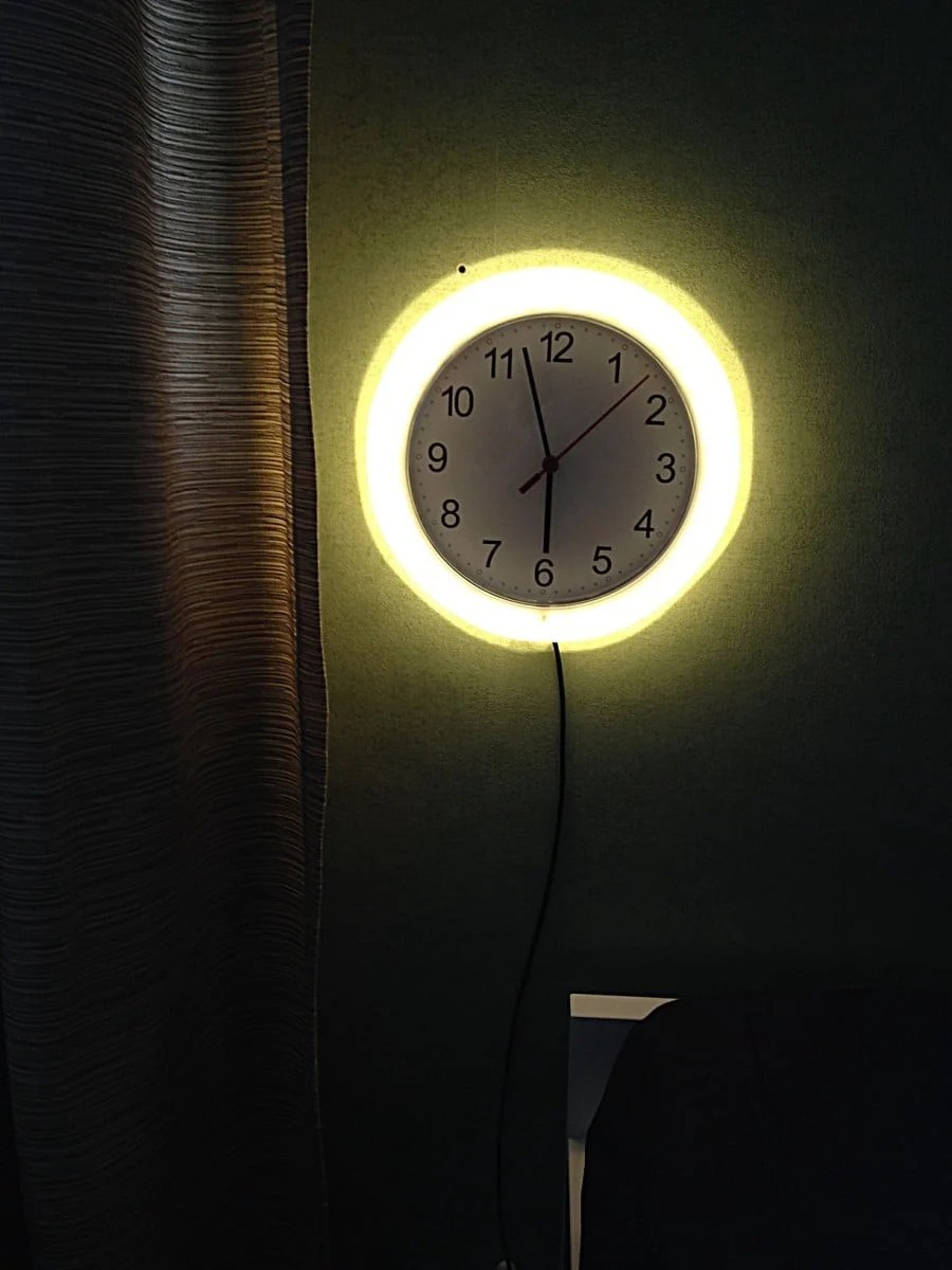 Rusch Clock Wall Lamp Ikea Hackers