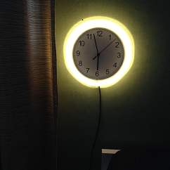 Side Tables Living Room Black And Gray Rusch Clock Wall Lamp - Ikea Hackers