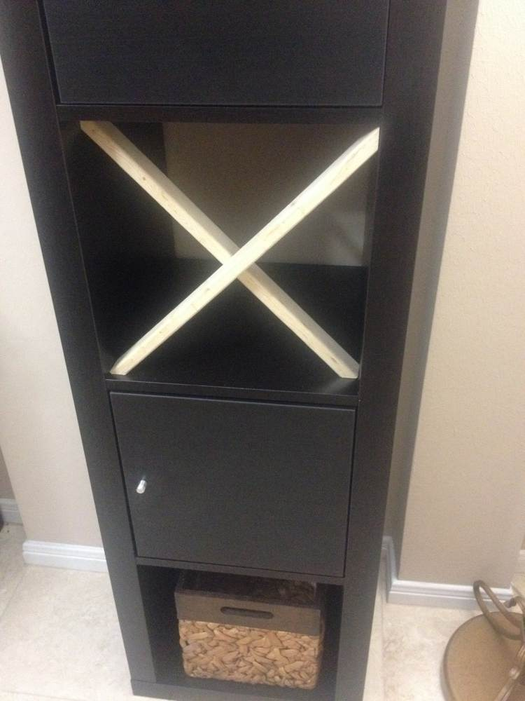 Easy X Shelf For Expedit Bar Ikea Hackers