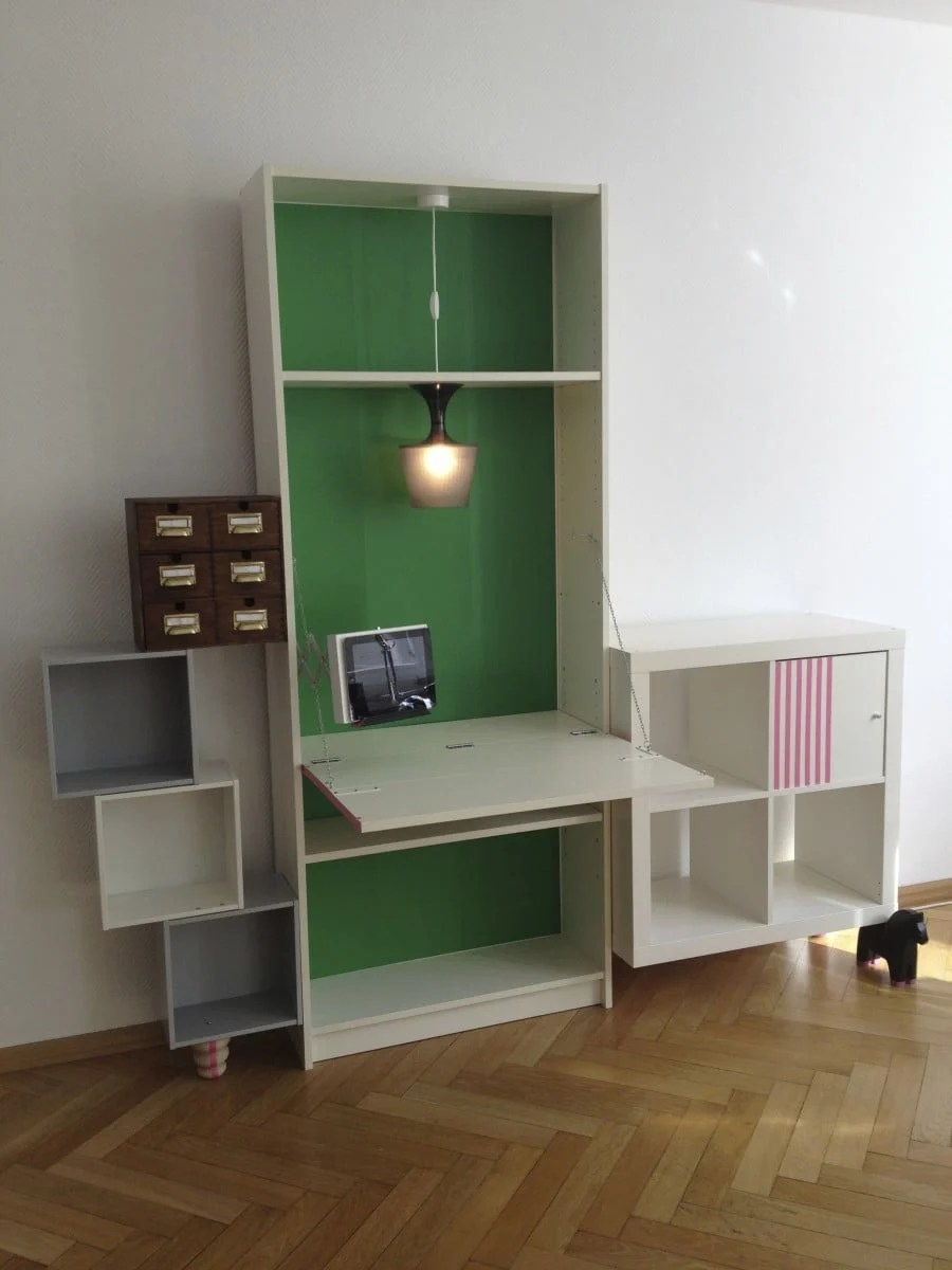 ikea billy desk schwabinger 12 from saustarkdesign ikea hackers. Black Bedroom Furniture Sets. Home Design Ideas