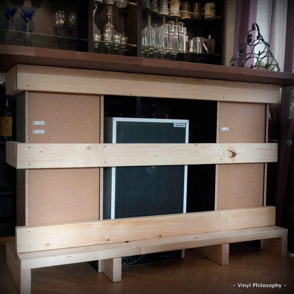 Diy Home Bar Built From Billy Bookcases Ikea Hackers