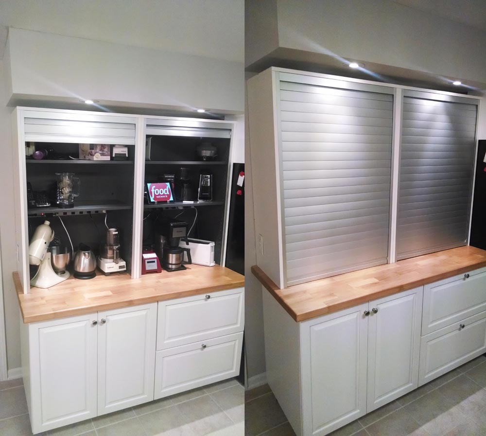 roll up cabinet doors kitchen pulls and knobs the mother of appliance garages ikea hackers cabinetskitchen11 comments 0 garage two galant front