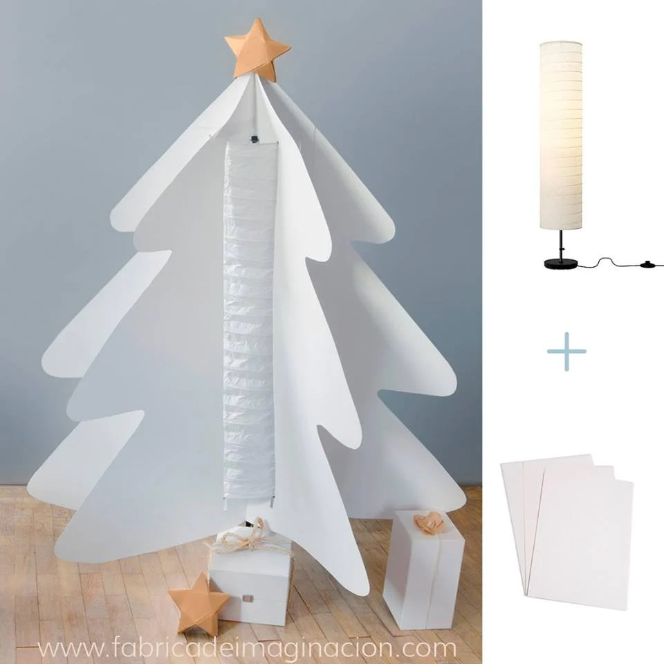 DIY Paper Christmas Tree with HOLMO lamp - IKEA Hackers