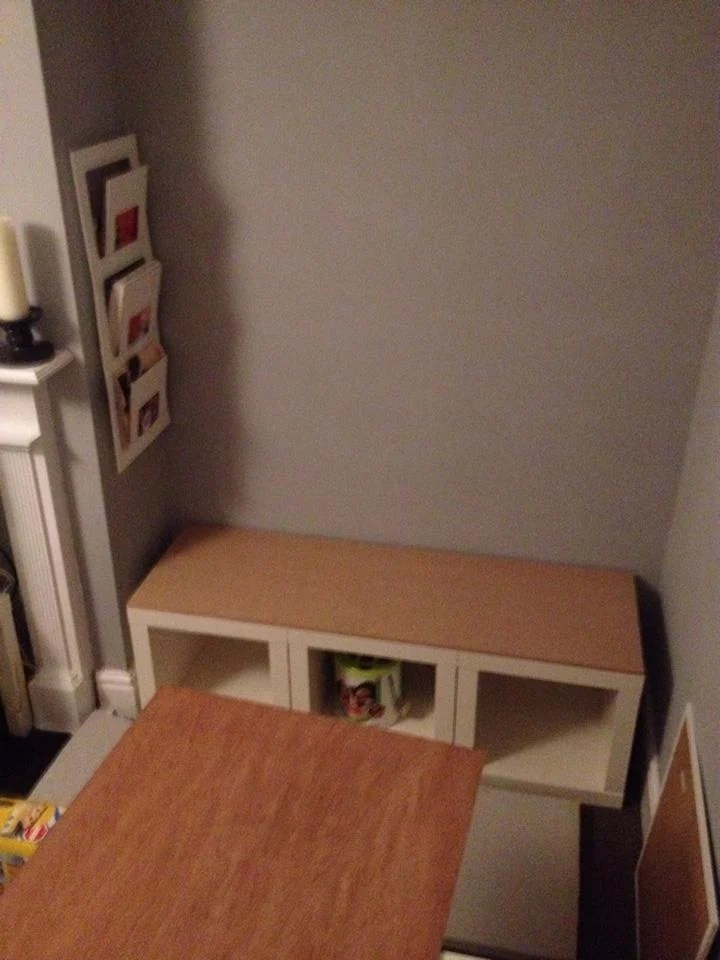 Expedit cube bench ikea hackers for Ikea expedit storage bench