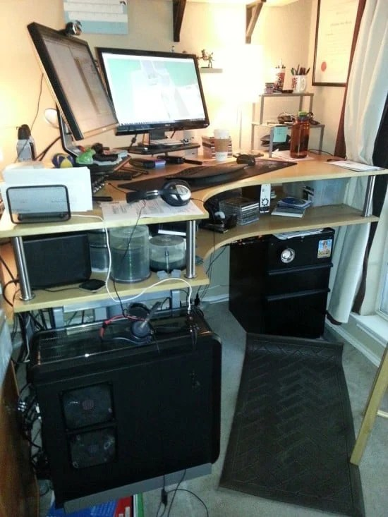 Standing Desk Using Bed Risers