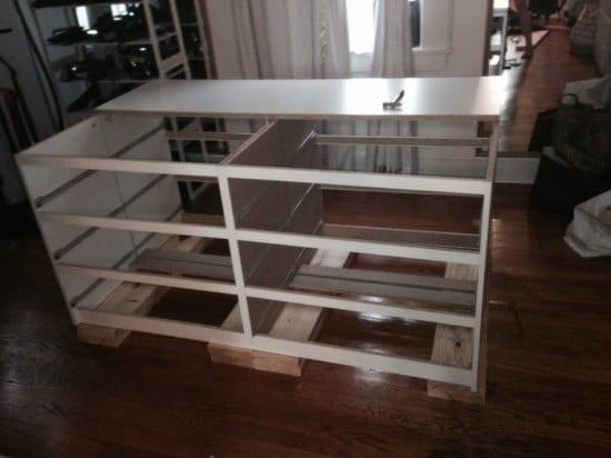 Hollywood Glam Malm Mirrored Dresser Island