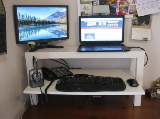 Wide Lack Standing Desk Ikea Hackers