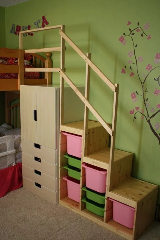 Easy Full Height DIY Bunk Bed Stairs