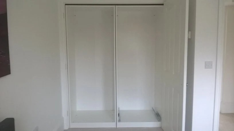 Pax Built Into Existing Wardrobe Opening Ikea Hackers
