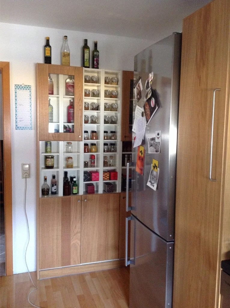 white kitchen cabinets glass doors shelf above sink small kitchen, big plans, no problem! - ikea hackers