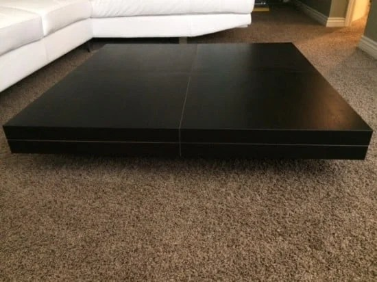 low profile coffee table lack hack ikea hackers. Black Bedroom Furniture Sets. Home Design Ideas