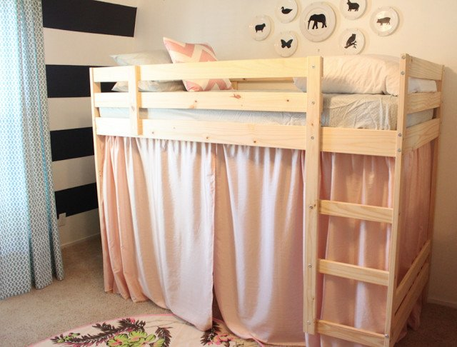 A mydal bunk bed upgrade ikea hackers - Loft bed with couch underneath ikea ...