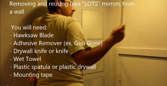 How To Remove And Reuse Ikea Lots Mirrors Ikea Hackers