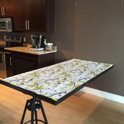 Portable Kitchen Island With Drop Leaf Online Design Tool A Hideaway Dining Table Using Ikea Mirror - Hackers