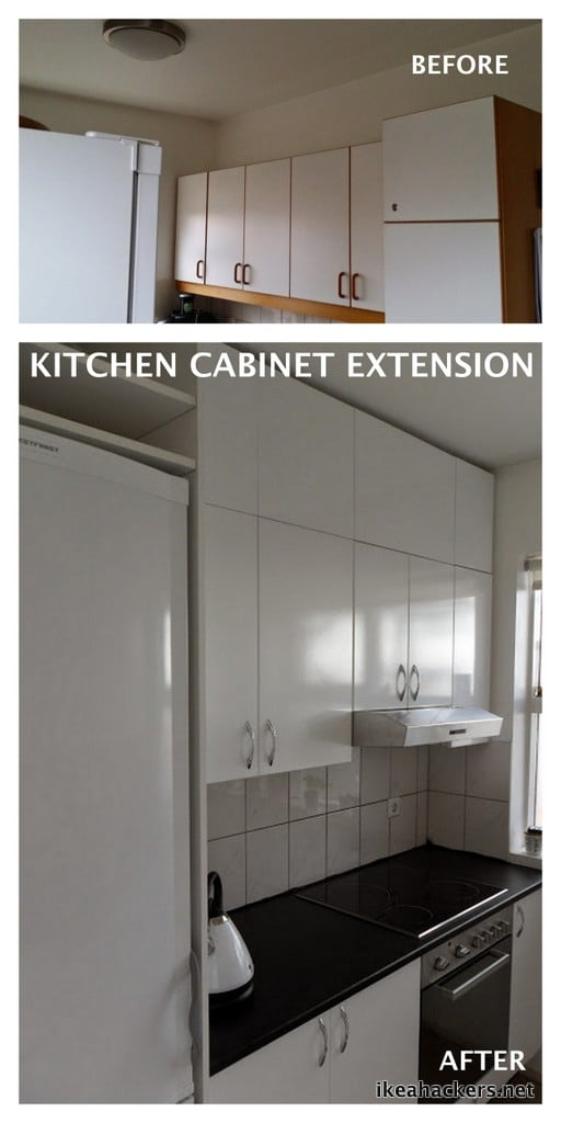 Kitchen Cabinet Extension Using Ikea Billy Ikea Hackers