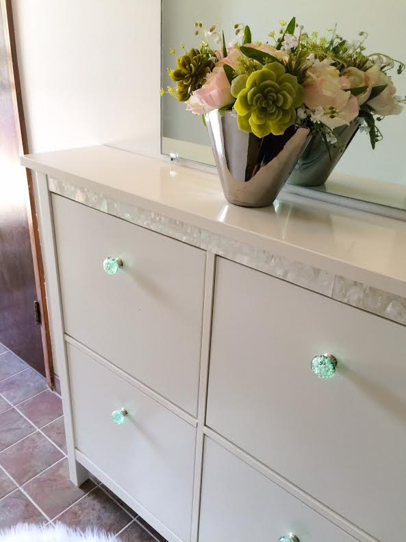 Glass Knobs For Kitchen Cabinets Classy Makeover For A Hemnes Shoe Cabinet - Ikea Hackers