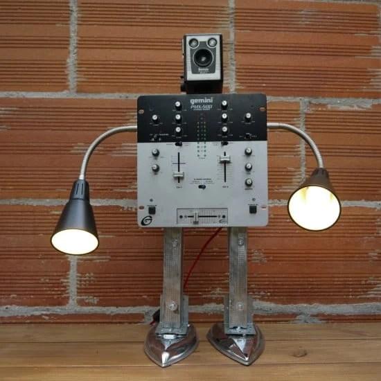 recycled art sculpture robot
