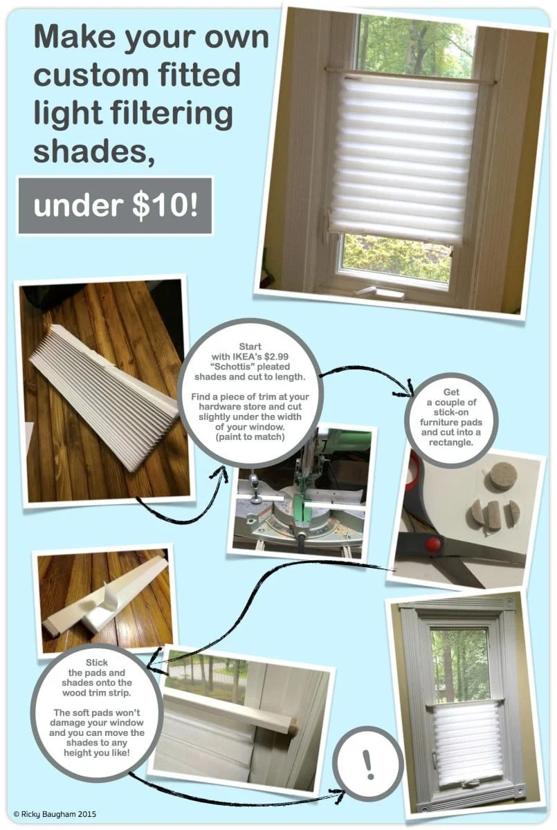 Schottis custom shades ikea hackers for Pleated shades ikea