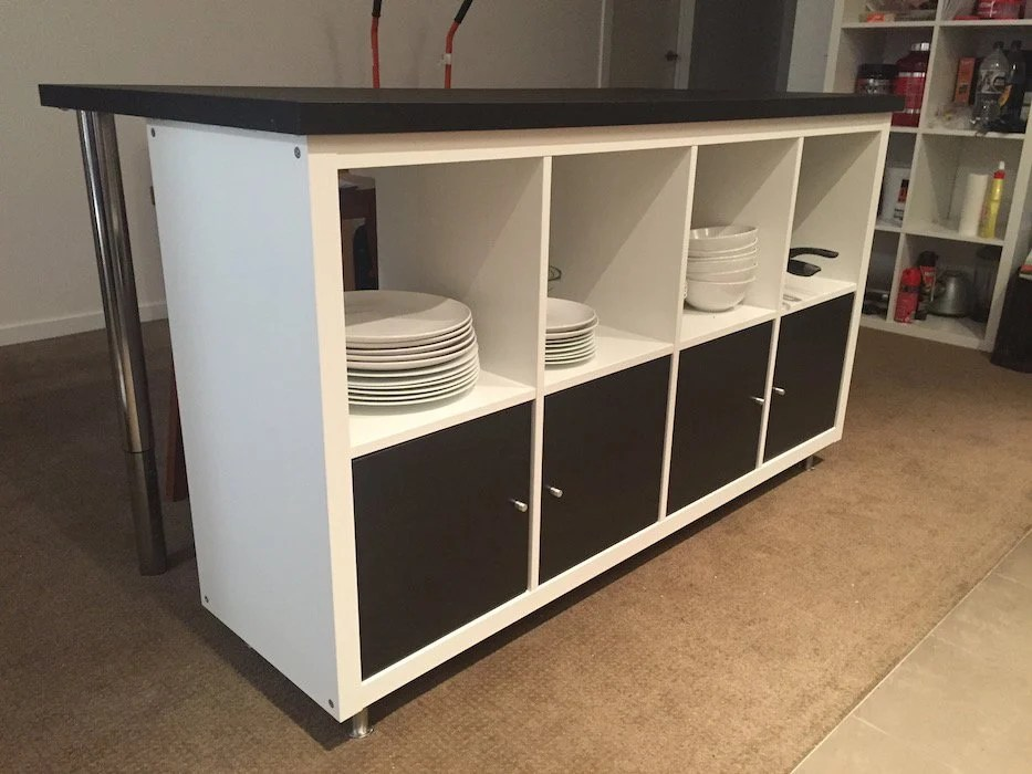 kitchen island bench cheap small stylish ikea designed for under 300 hackers