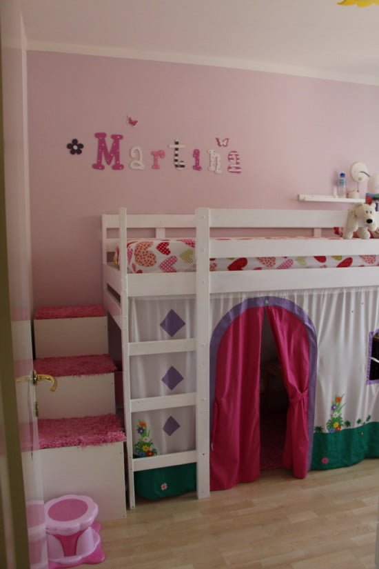 Mydal Loftbed With Play Area For Girl S Room Ikea Hackers