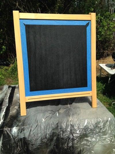 MALA Chalkboard Wedding Sign - painting