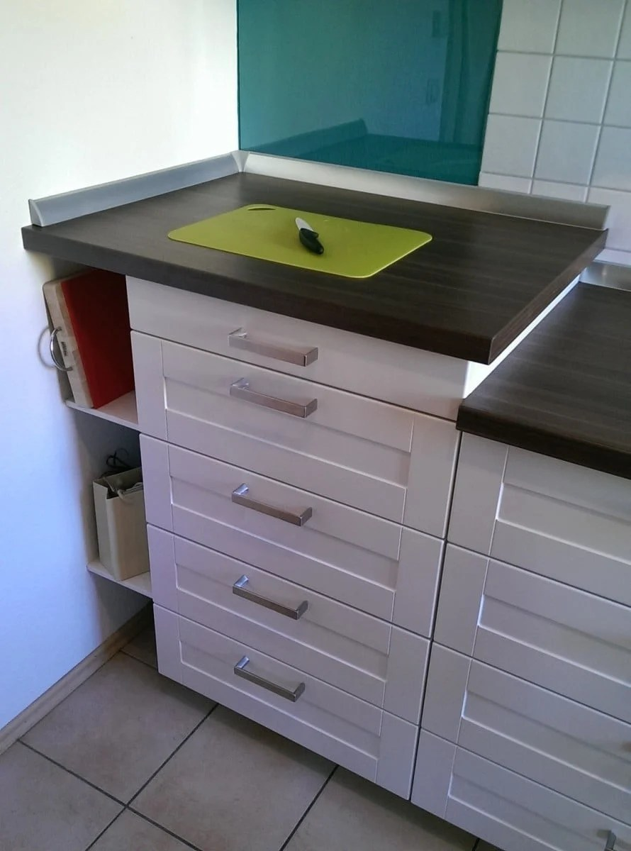 ikea kitchen counter table with 6 chairs how to elevate metod countertop hackers elevated