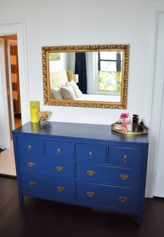 Peacock blue HEMNES dresser