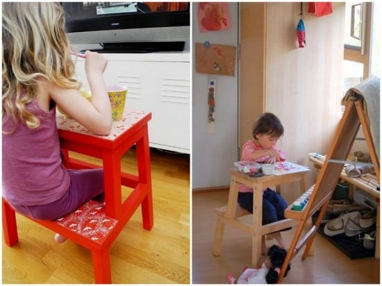 BEKVAM all-in-one kids table and chair 2