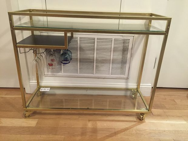 ikea vittsjo laptop table turned into classy gold bar cart ikea hackers. Black Bedroom Furniture Sets. Home Design Ideas