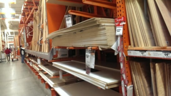 Wood from Home Depot