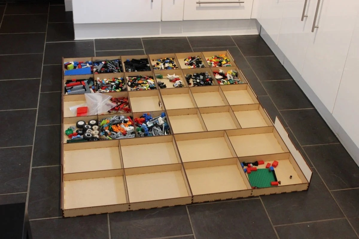 Lack Table With Lego Storage Drawers Ikea Hackers