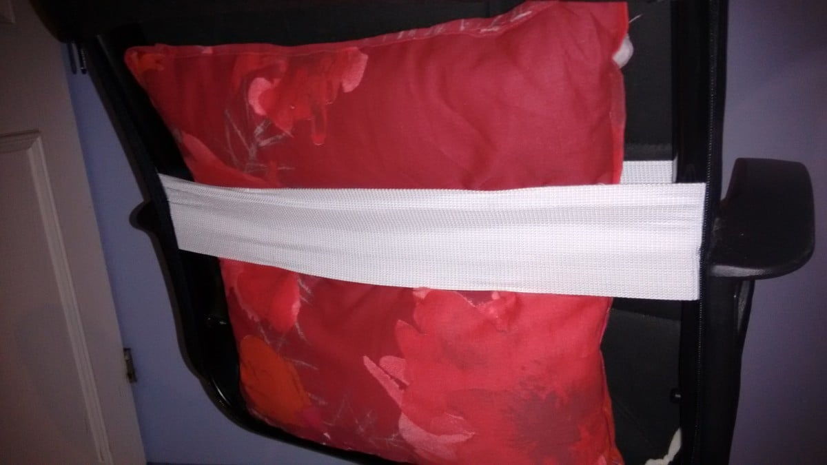 chair headrest pillow revolving for baby ikea fingal custom gaming - hackers