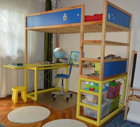 Ikea 2 Together For A: How To Hack KURA Bed With Study Desk