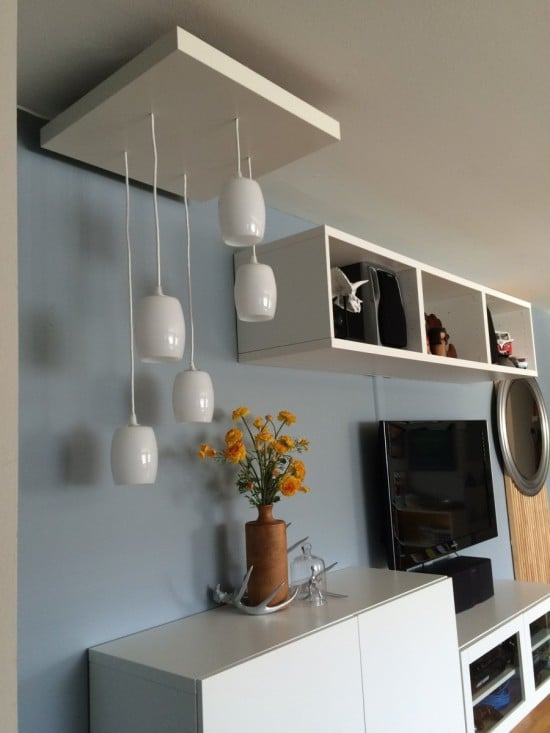 My IKEA Hack of a tiered pendant lighting