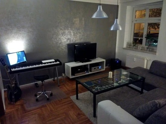 IKEA GALANT piano keyboard stand