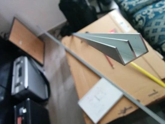 The aluminium profiles for the sliding doors