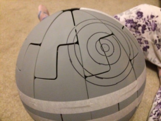 Drawing on the Death Star laser