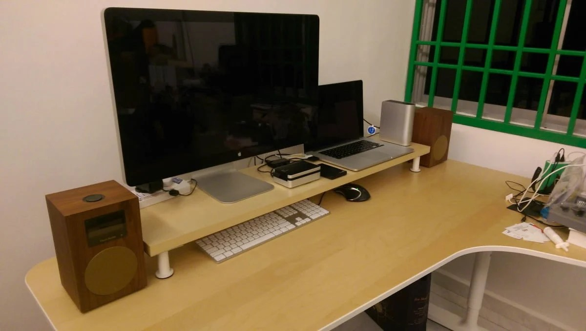 10cm lift Desk Shelf Monitor Stand  IKEA Hackers