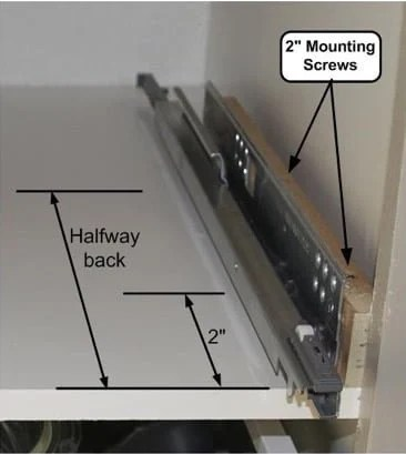 Installing Drawer Slides Face Frame