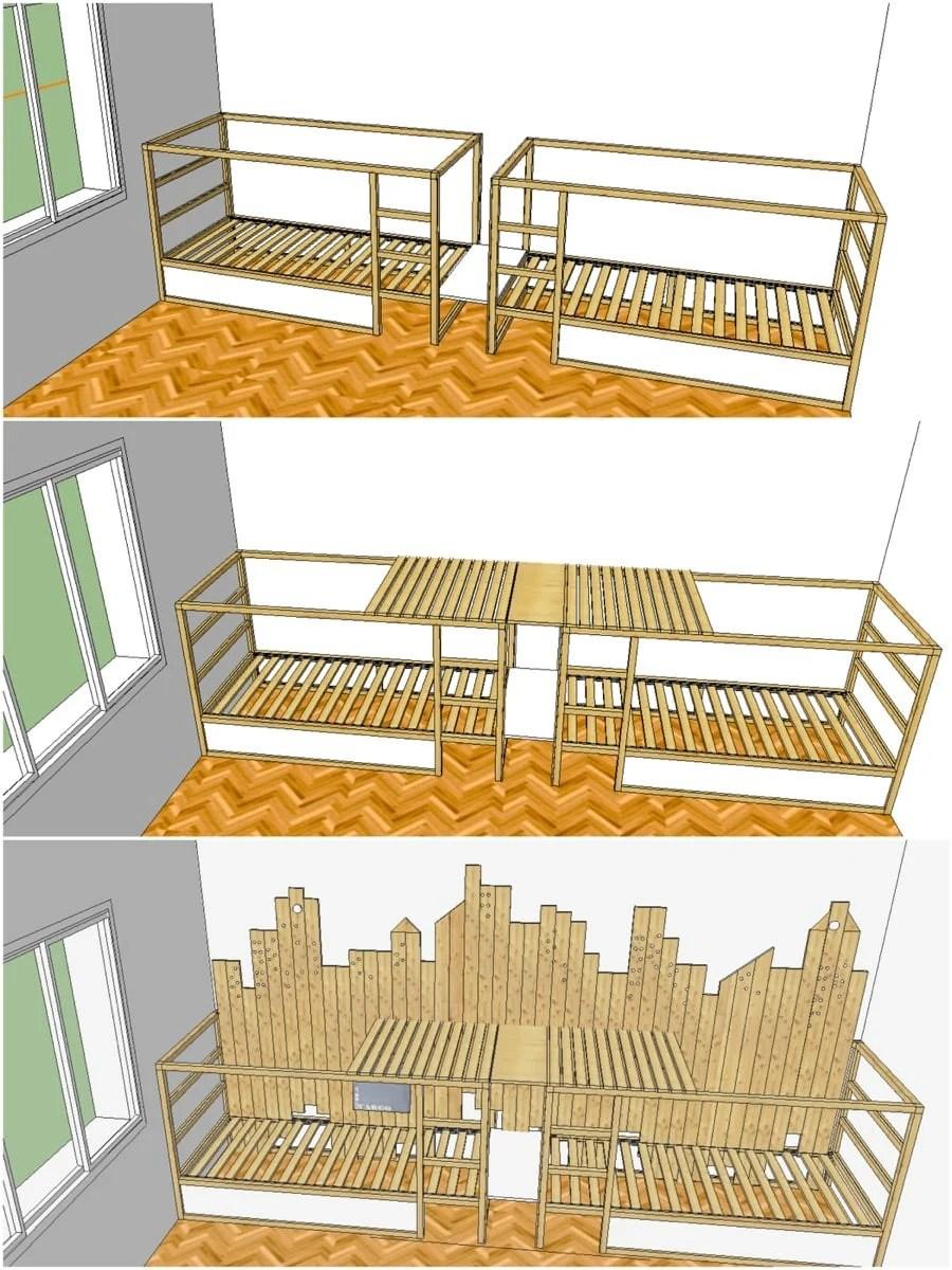 Bunk Beds For 3 In Ikea Kura City
